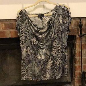 Women's snake/leopard print blouse XL